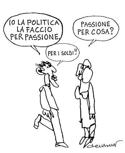 Vignetta - Paolo Della Bella - Passione e politica